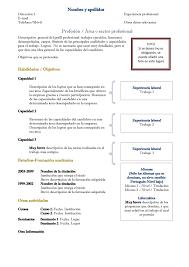 Ejemplo Basico De Plantilla De Curriculum Moderno Curriculum