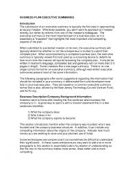 Executive Summary Sample Business Plan Example Farmer Resume Startup