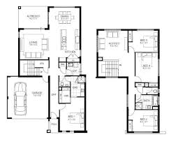 2 Story 4 Bedroom Modern House Plans Awesome Incredible Double Storey 4  Bedroom House Designs Perth