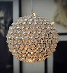 beaded crystal ball with fairy lights beaded crystal light by the yellow door modern hanging lights pepperfry