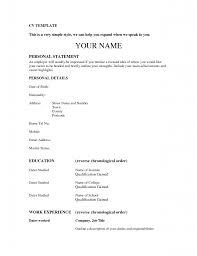 Resume Templates Word Free Cvresume Formats Tonload Simple Job