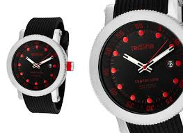 red line men s watches