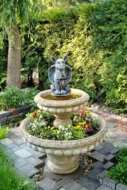 fountain garden. Flower Backyard Botany Garden Deco Sculpture Fountain Yard Water Feature