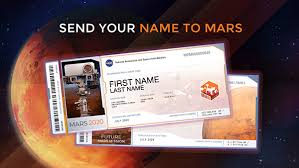 Send <b>Your Name</b> to Mars: Future Mission