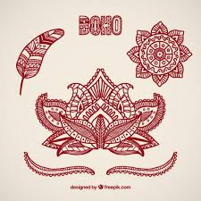 Boho elements design Premium Vector
