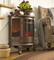 main image for curved electric wood stove heater