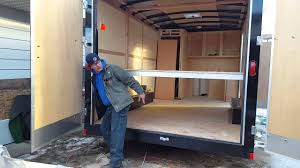 ceiling bed for a enclosed trailer remodel