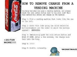 How To Get Free Drinks From Vending Machine Adorable Soda Machine Codes Mybloghqi48ga