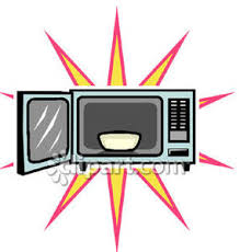 broken microwave clipart. bowl in a microwave - royalty free clipart picture broken