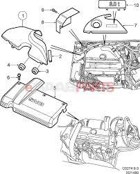 Saab engine parts external esaabparts saab bay cover turbo diagram di full size