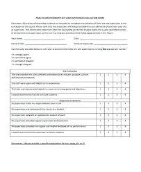 Supervisor Feedback Form Template Uation Best Resume Sample