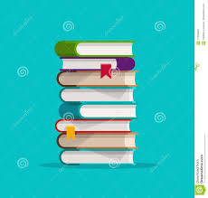 books stack or pile vector ilration flat cartoon paper book stacked isolated clipart stock