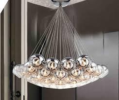 new modern chrome glass bubble led pendant light chandelier ceiling lamp lights