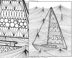 Ocean Wave Adult Coloring Page Sailboat Adult Coloring Sheet Etsy