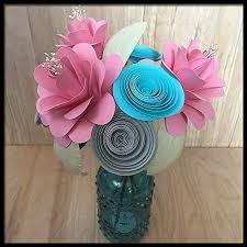 Paper Flower Bouquet In Vase Amazon Com First 1st Anniversary Paper Flower Bouquet In