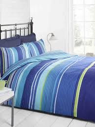 Signature Striped Quilt Duvet Cover and Pillowcase Bedding Bed Set ... & Signature Striped Quilt Duvet Cover and Pillowcase Bedding Bed Set,  Navy/Light Blue/Green/White, Single: Amazon.co.uk: Kitchen & Home Adamdwight.com