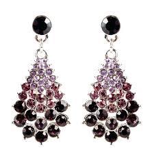 beautiful high quality silver gold color drop chandelier earrings swarovski crystal chandelier drop earrings