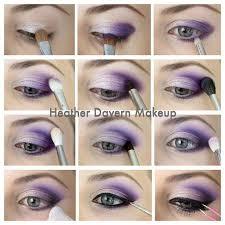purple eyeshadow tutorial for smokey eyes