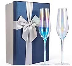 2PCS Creative Wedding Champagne Flutes, DreamJ ... - Amazon.com