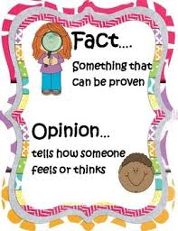 Fact And Opinion Anchor Chart Fact Opinion Anchor Charts