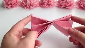 Paper Flower Tissue Paper Diy Tissue Paper Flower Tutorial