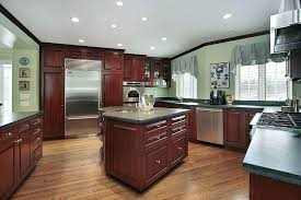 dark stained kitchen cabinets. Gray Stained Kitchen Cabinets And White Filing Dark