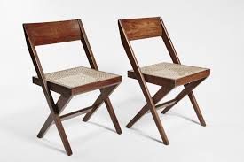 teak and wicker library chairs by pierre jeanneret set of for wicker folding chairs uk barrington