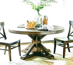 round pedestal dining table solid wood rustic expandable set 60 inch kitchen