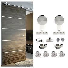 sliding barn door track 5 sliding barn door hardware single wood door stainless track kit sliding barnwood door closet hardware track system set