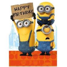 Despicable Me Minions Happy Birthday Card Mm021 Ebay