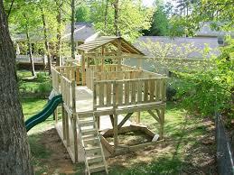 backyard playset plans design