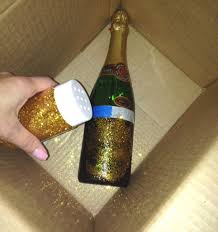 Champagne Bottle Decoration Decorate Champagne Bottle With Gold Handcraft By Grip