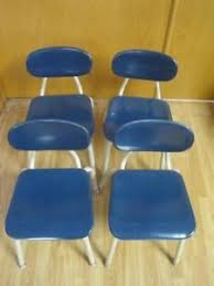 blue school chair. Image Is Loading Lot-of-4-VINTAGE-MELSUR-TEAL-BLUE-MID- Blue School Chair