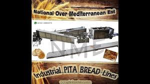 Automated 2 Rows Lebanese Pita Arabic Bread Line Oven Nme