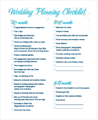 wedding checklist templates sample wedding checklist 8 examples in pdf