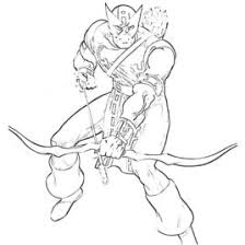 Small Picture Hawkeye Coloring Pages To Download And Print For Free Hawkeye