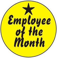 Emploee Of The Month Employee Of The Month Hard Hat Labels