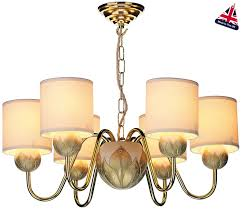 david hunt dahlia traditional 6 light brass chandelier cream shades