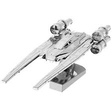 Stainless Steel DIY Assembly Model Toy 3D Spaceship Model - buy ...