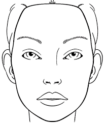 Small Picture Blank Face Chart Sketch Coloring Page Teagans 7th Pinterest