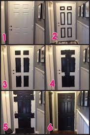 paint interior doorsHallway Makeover Part 2  Black Doors  Paint doors black