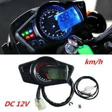 Motorcycle 15000RPM <b>LCD</b> Digital Odometer Speedometer ...