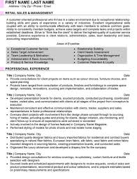 Sample Resume For Retail Sales Sales Manager Resume Sample Template