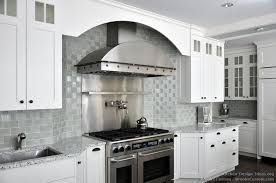 modern appliances in gray completed kitchen backsplash ideas with white cabinets gray granite countertop in unique and abstrack motif unique shape white