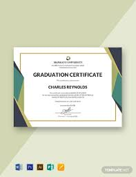 Templates For Certificates Free Graduation Certificate Template Word Psd Indesign