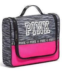 victorias secret pink marl hanging shower caddy travel makeup cosmetic bag nwt