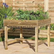 forest garden table planter assembled