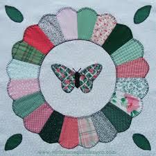 Dresden Plate with Butterfly Quilt Block | quilts | Pinterest ... & Dresden Plate with Butterfly Quilt Block Adamdwight.com