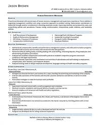 Best Human Resources Resume Templates Director Summary Objective