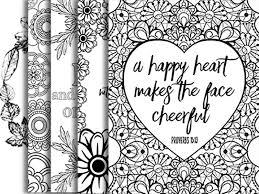 Small Picture 5 Bible Verse Coloring Pages Set 2 Floral DIY Adult